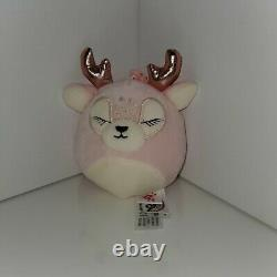 Squishmallow 3.5 Justice Exclusive Ivy the Deer clip on Kellytoy plush HTF RARE
