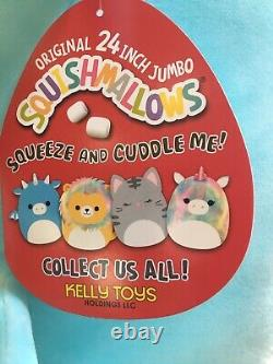 Squishmallow DEVIN THE DRAGON SZ 24 pillow plush SquooShems Kelly Toy NEW
