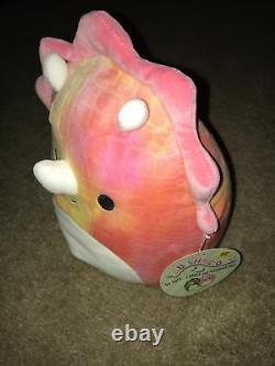 Squishmallow Trinity Triceratops Dinosaur Kellytoy 8 Plush Stuffed Toy HTF New