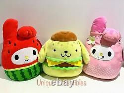 Squishmallows Hello Kitty 12 Plush Bundle My Melody Pompompurin Brand NEW
