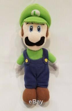 Super Mario Party 5 Luigi Beanie Plush Toy Hudson Soft Sanei 2003
