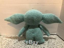 The Child Baby Yoda Mandalorian Fan Art Plush Crochet Doll 10 Tall