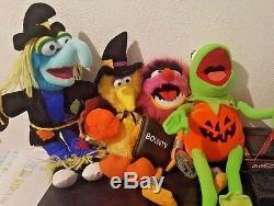 The Muppets lot of 4-Plush stuffed Kermit Gonzo Animal Big Bird Halloween Wizard