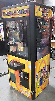 Treasure Chest Claw Crane Plush Stuffed Animal Arcade Machine Orange Decal #5