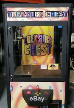 Treasure Chest Claw Crane Plush Stuffed Animal Arcade Machine Orange Decal #C22