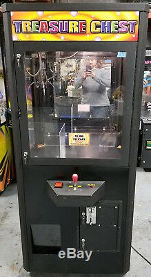 Treasure Chest Claw Crane Plush Stuffed Animal Arcade Machine Orange Decal #C9