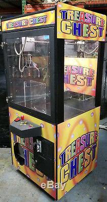 Treasure Chest Claw Crane Plush Stuffed Animal Arcade Machine Orange Decal #T12