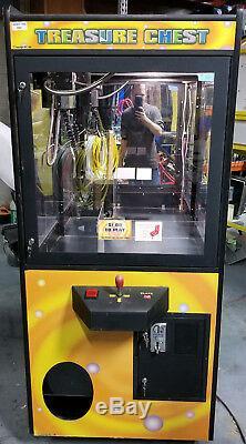 Treasure Chest Claw Crane Plush Stuffed Animal Arcade Machine Orange Decal #T2
