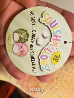 Trinity Squishmallows Pink Yellow Triceratops 8 Plush Doll Toy Rare Dinosaur