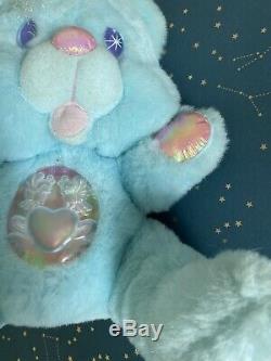 Twinkle Bears BLUE 1995 Fantasy Ltd Plush Light Up Bear ^^ Ship Fast ^^^