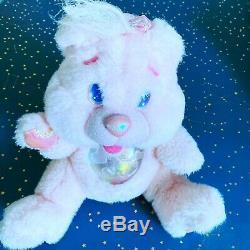 Twinkle Bears PINK 1995 Fantasy Ltd Plush Light Up Bear ^^ Ship Fast ^^^