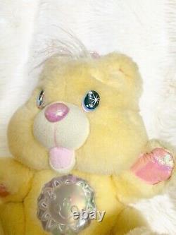 Twinkle Bears Plush Yellow 10 Fantasy Ltd 1995 Works Stuffed Animal Toy Pastel