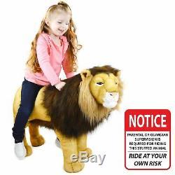VIAHART Laurent The Lion 36 Inch Stuffed Big Cat Standing Animal Plush