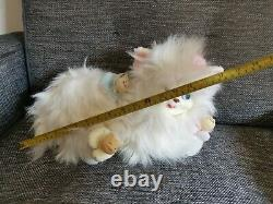 VINTAGE rubber face stuffed animal 1980'S DAN DEE kitty SURPRISE MOM cat PLUSH