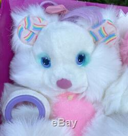 VTG 80s Amtoy Brush-A-Loves Bubble Love White and Pink Bear Plush Toy NRFB Box