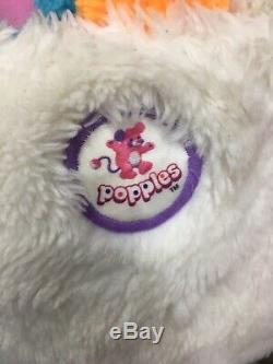 VTG LOT 1980s 2 Popples Pancake Puffball Popple Plush Dolls Used 80s 12 16