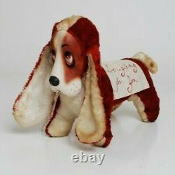 VTG Rubber Face Rushton Star Creation Stuffed Plush Valentines Day Hound Dog