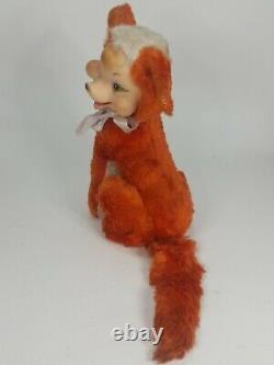 VTG Rushton Rubber Face Fox Stuffed Animal Plush Small RARE Collectible 1950's