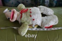 VTG Rushton Star Creations Rubber Face Plush Toy 1950s Stuffed Animal Turtle
