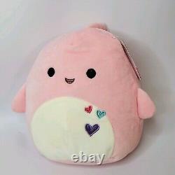 Valentine SQUISHMALLOW Pink Shark SELENE 8 Plush Pillow RARE