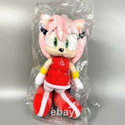 Very Rare SEGA Sonic the Hedgehog Amy Rose Stuffed Plush doll SAN-EI 2012