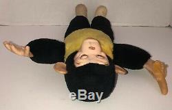 Vintage 15 MR BIM MONKEY ZIPPY ZIM MCM Stuffed Plush Monkey Banana Rubber Face