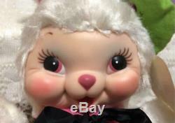 Vintage 19501960s Rushton Plush Doll RUBBER FACE Painter rabbit