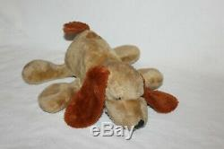 Vintage 1978 Mattel Hug N Talk Napper Dog Plush RARE Stuffed Animal Brown Push