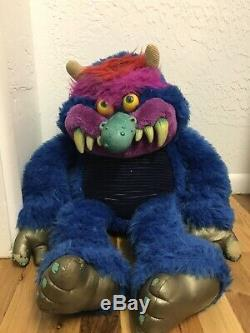 Vintage 1986 Amtoy American Greetings My Pet Monster Plush Stuffed 1980s Toy