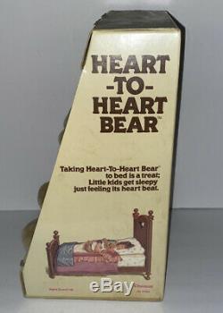Vintage 1986 Chosun Heart To Heart Teddy Bear Plush 18 Pajamas Cap NEW GEE-BEE