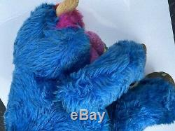 Vintage 1986 MY PET MONSTER 24 Blue PLUSH Doll AmToy STUFFED ANIMAL 1980s RARE