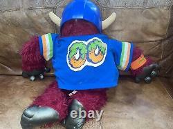 Vintage 1986 My Pet Football Monster Toy Helmet + 1 Handcuff Jersey AmToy Plush