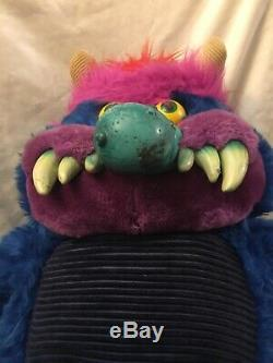 Vintage 1986 My Pet Monster Plush With Chains