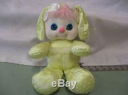 Vintage 1989 Mattel PJ Sparkles Plush Bunny Rabbit Yellow star Glow stuffed RARE