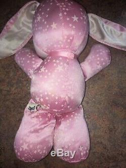 Vintage 1989 PJ Sparkles Sparklins Pink Bunny Mattel Plush