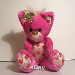 Vintage 1991 Hallmark Party Yum Yums Candy Apple Kitty Pink Scented Plush Kenner