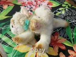 Vintage 1992 TYCO Kitty Kitty Kittens Plush Purring Cat Siamese Cream Rare