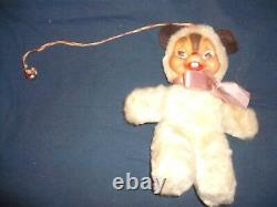 Vintage 9 inch Plush Chipmunk with Rubber Face Possible Rushton Squirrel