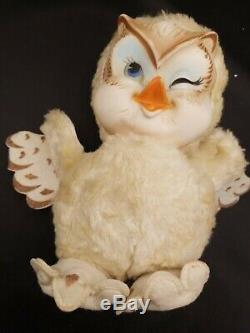 Vintage/Antique Rubber Face Rushton Star Creation OWL Plush Toy