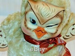 Vintage/Antique Rubber Face Rushton Star Creation OWL Plush Toy Hoo-o-ty
