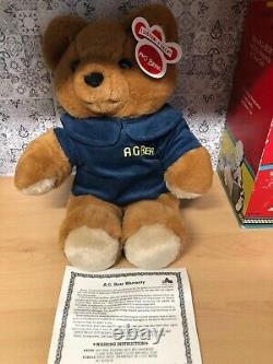 Vintage Axlon 1985'Talking' AG Baby Bear With Voice Box. Plush Toy. 1985