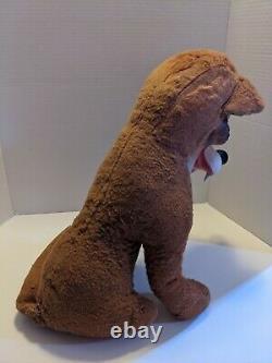 Vintage Big Bad Wolf Rushton Style Rubber Face Plush Stuffed Animal 1950s 50s