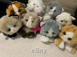 Vintage DSI Tyco Kitty Kitty Kittens Lot Plush Cat Stuffed Toy Purrs 8 Count