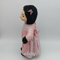 Vintage Early Gund Rubber Face Plush Bunny Rabbit Kitty Cat Girl Rushton Stuff