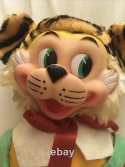 Vintage Gund Rubber Face Plush Tiger Stuffed Animal 18