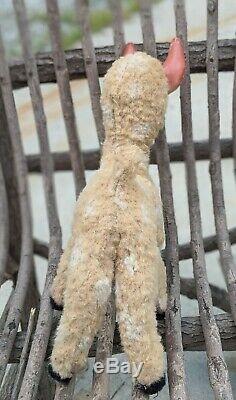 Vintage Gund Rushton Rubber Face Plush Deer Rare