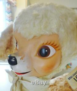 Vintage Gund Walt Disney BAMBI Rubber Face Plush Deer w Butterfly + Tag Reindeer