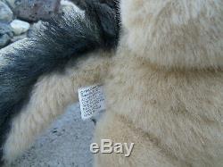 Vintage Large rare plush stuffed 24 Black Wolf Dog