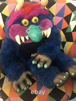 Vintage My Pet Monster 1980s AmToy Plush Stuffed Toy Original American Greetings