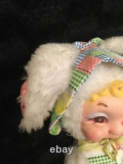 Vintage RARE Rushton Rubber Face Plush Bunny Rabbit 20